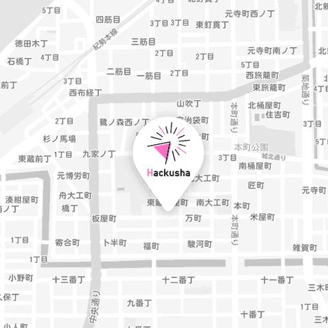 株式会社Hackusha 地図