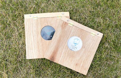 木製のオリジナルメニューブックのデザイン・製造(DIY)